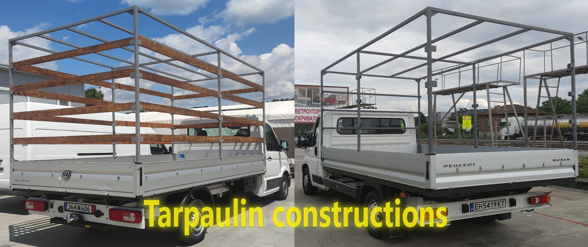 Constructions for tarpaulin
