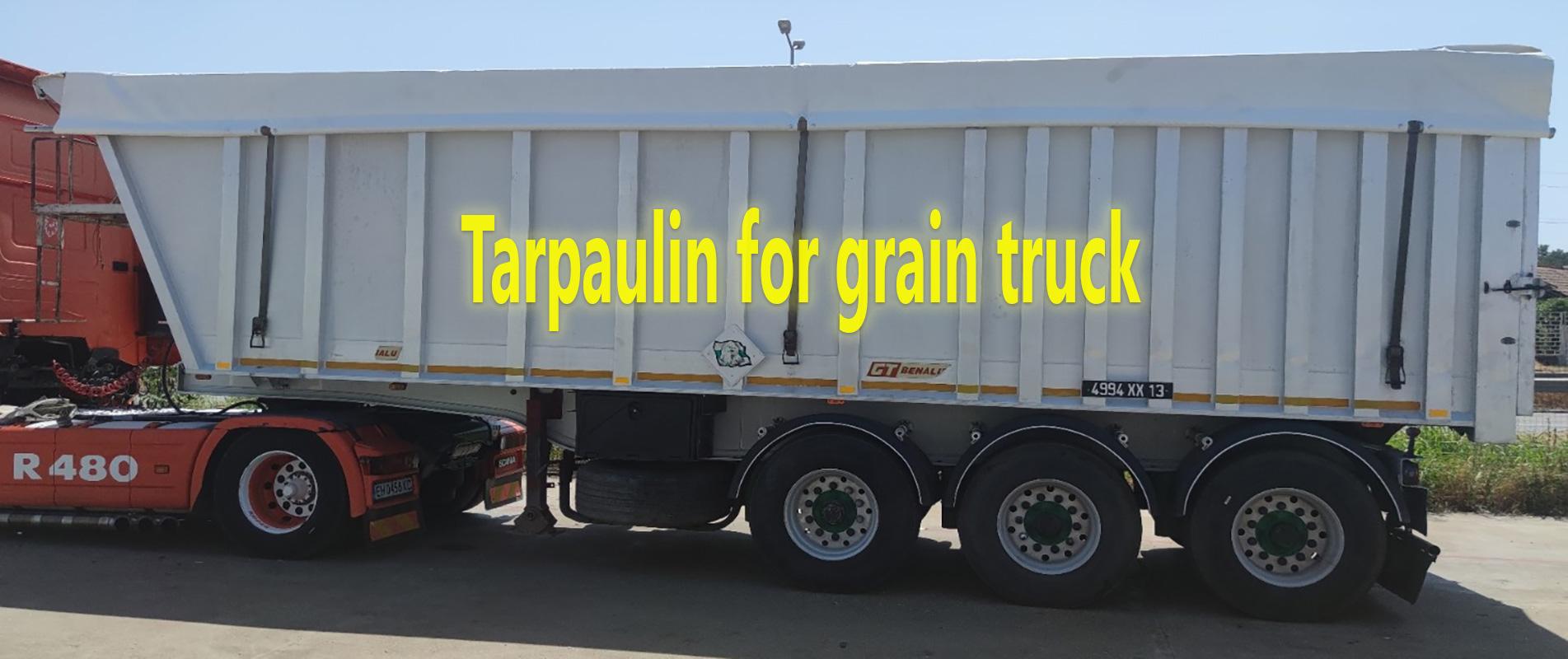 Tarpaulins for grain trucks