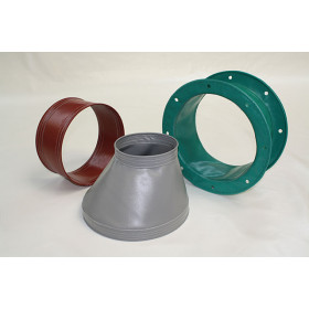 Fabric ducts, Textile connectors