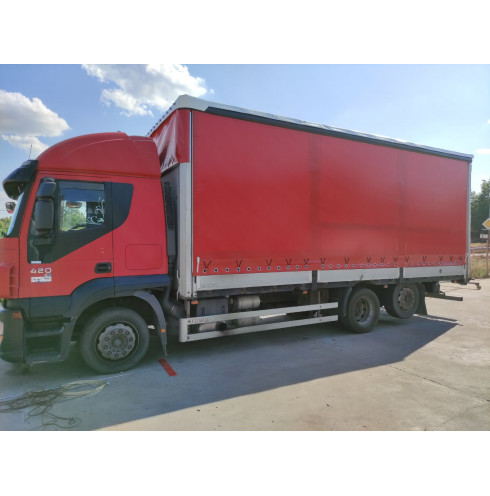 Blind curtains for trailer with covers