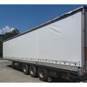 Blind curtains for semi-trailer with covers