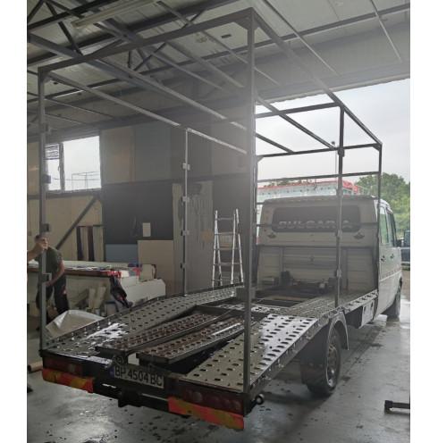 Tarpaulin construction for car platform