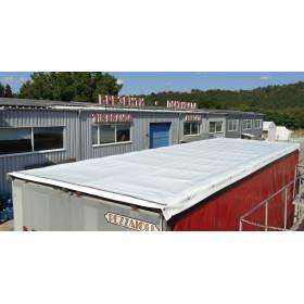 Sliding roof for truck or trailer